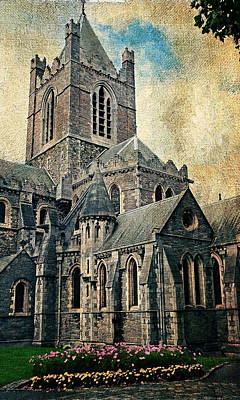 Photograph - Streets Of Dublin. Christ Church Cathedral. Painting Collection by Jenny Rainbow