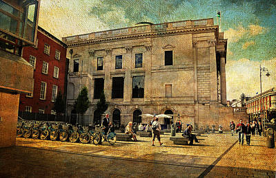 Photograph - Streets Of Dublin. Dame Street. Painting Collection by Jenny Rainbow