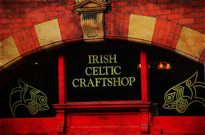Photograph - Streets Of Dublin. Irish Celtic Craftshop. Painting Collection by Jenny Rainbow