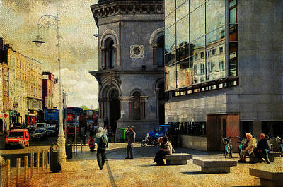 Photograph - Streets Of Dublin. Painting Collection by Jenny Rainbow