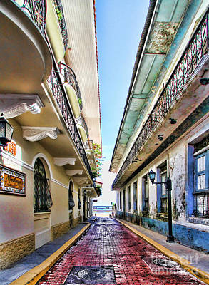 Photograph - Streets Of El Casco Viejo By Diana Sainz by Diana Raquel Sainz