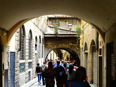 Stret Photograph - Streets Of Florence by Alan Lakin