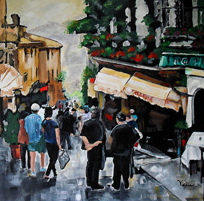 Painting - Streets Of Italy by Vickie Warner