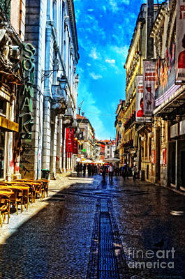 Cobblestone Streets Digital Art - Streets Of Lisbon 1 by Mary Machare