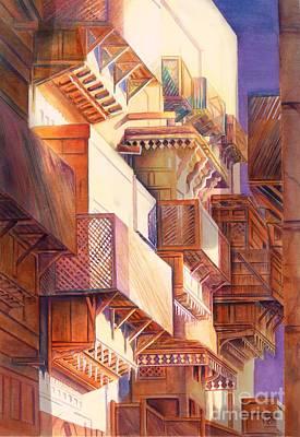 Hajj Painting - Streets Of Madinah by Seema Sayyidah