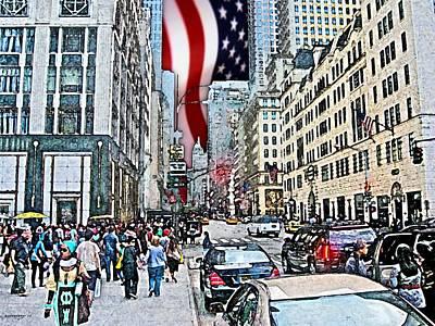 City Digital Art - Streets Of Manhattan 2 by Mario Perez