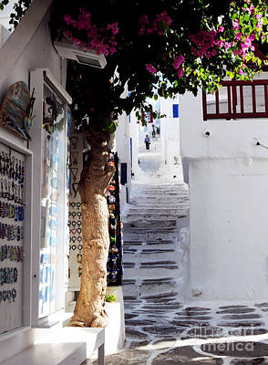 Photograph - Streets Of Mykonos #2 by Haleh Mahbod