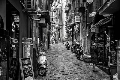 Streets Of Naples Art Print