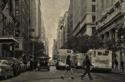Crosswalk Photograph - Streets Of New York City by Dan Sproul