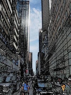 Streets Of New York City Art Print by Mario Perez