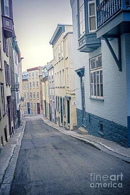 Streets Of Old Quebec City Art Print by Edward Fielding
