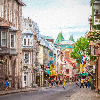 Photograph - Street's Of Old Quebec by Erwin Spinner
