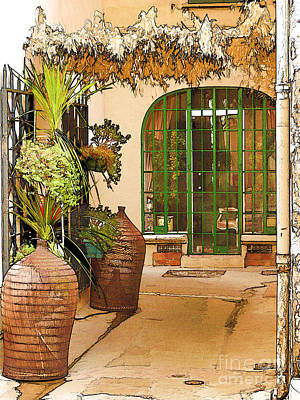 St.tropez Digital Art - Streets Of Old St Tropez 3 by Rod Ohlsson