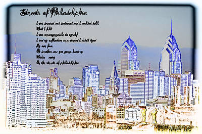 Cityscape Of Philadelphia Photograph - Streets Of Philadelphia by Bill Cannon