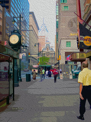 Streets Of Philadelphia Art Print by Garland Johnson