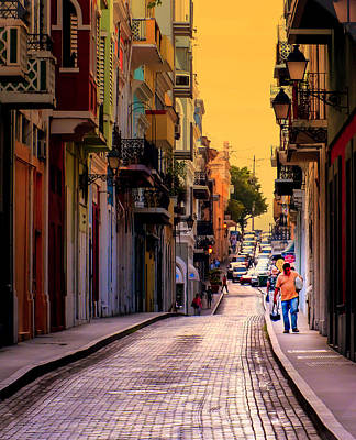 Streets Of San Juan Art Print by Karen Wiles