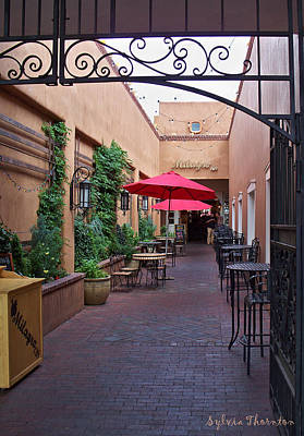 Art Print featuring the photograph Streets Of Santa Fe by Sylvia Thornton
