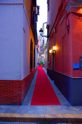Streets Of Seville - Red Carpet  Art Print by Andrea Mazzocchetti
