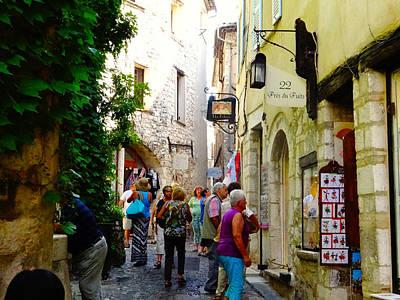 Photograph - Streets Of St Paul De Vence by Alan Lakin