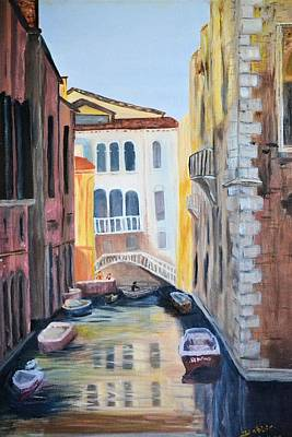 Painting - Streets Of Venice by Debbie Baker