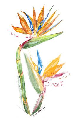 Strelitzia Painting - Strelitzia - Bird Of Paradise 13 Elena Yakubovich by Elena Yakubovich