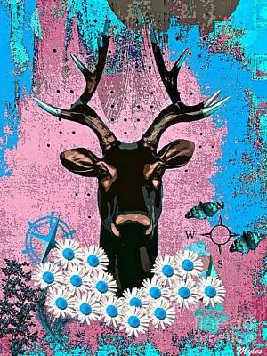 Painting - Brown Deer Head by Saundra Myles