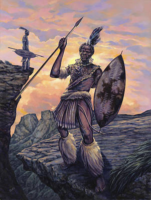 African Warriors Painting - Strength by Dennis Goff