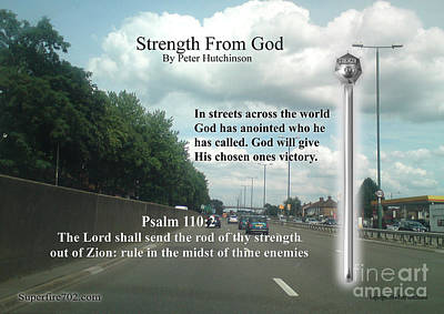 Photograph - Strength From God by Bible Verse Pictures