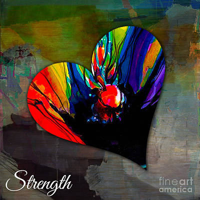 Mixed Media - Strength by Marvin Blaine