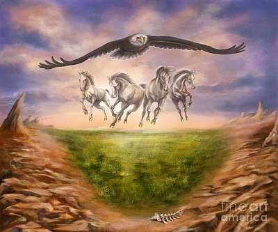 Worship Painting - Strength Of The Horse by Tamer and Cindy Elsharouni