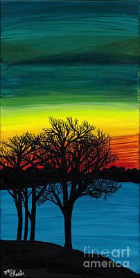 Strength On Shore Art Print by Melissa F Kaelin