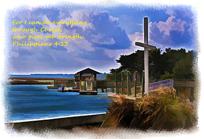 Digital Art - Strength Through Christ by Bill Barber