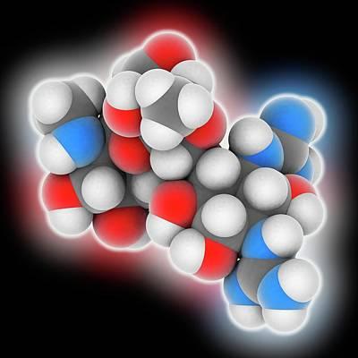 Streptomycin Drug Molecule Art Print by Laguna Design