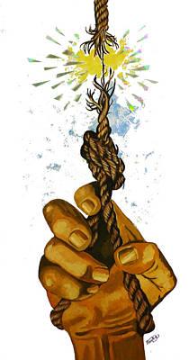 Stressed Art Print by Jack Hanzer Susco