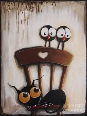 Stressie Cats Chair Original by Lucia Stewart