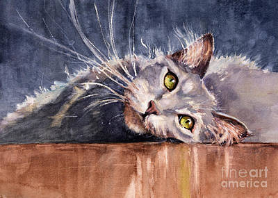 Watercolor Pet Portraits Wall Art - Painting - Stretch by Judith Levins