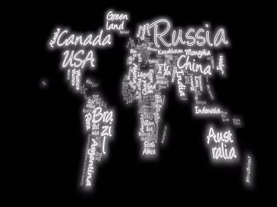 Australia Digital Art - Stretched World Map by Dan Sproul