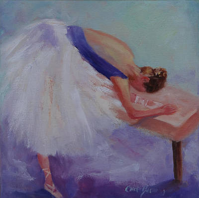 Painting - Stretching Ballerina New by Carol Berning