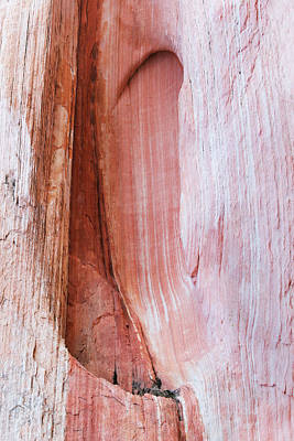 Photograph - Striated Rocks On A Cliff Face by John Orsbun