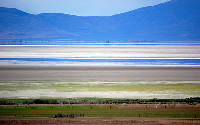 Photograph - Striations At Honey Lake by AJ  Schibig
