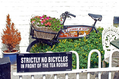 Photograph - Strictly No Bicycles by Rod Jones