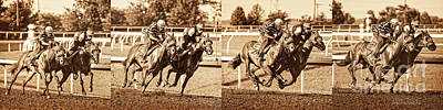 Keeneland Photograph - Stride For Stride by Terri Cage