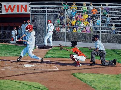 Bleachers Painting - Strike by Timithy L Gordon