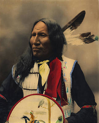 Brave Digital Art - Strikes With Nose Oglala Sioux Chief  by Heyn Photo