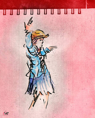 Striking A Pose Art Print by William Rowsell