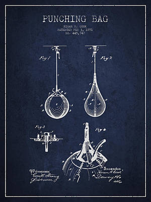 Striking Bag Patent Drawing From1891 Art Print by Aged Pixel