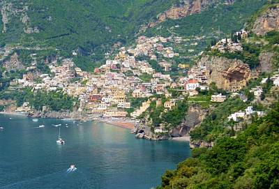 Mediterranean Sea Photograph - Striking Beauty Of Positano by Marilyn Dunlap