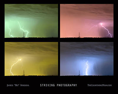 Photograph - Striking Lightning Photography by James BO Insogna