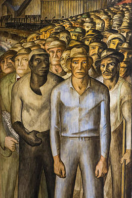 Bay Area Painting - Striking Miners Mural In Coit Tower by Adam Romanowicz