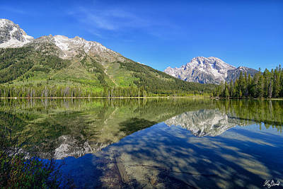 Photograph - String Lake Reflections Le by Greg Norrell